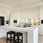 calacatta modern white kitchen